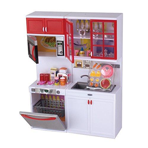 Qun feng girls modern toy kitchen playset perfect for use for Girls kitchen playset