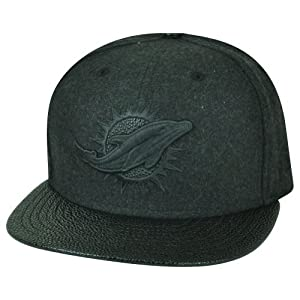 NFL New Era 9Fifty 950 Miami Dolphins Melton Stinger Snap Buckle Hat Cap Black by New Era
