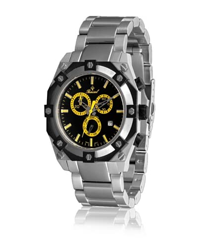 Bassel Reloj con movimiento cuarzo suizo CR4030AM Plateado 45  mm
