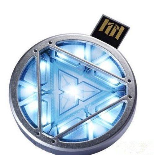 MARVEL IRON MAN 3 ARC REACTOR (8GB) USB LED LIGHT FLASH DRIVE...