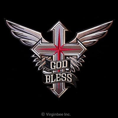 Amazon.com: WINGED CROSS GOD BLESS WIND ROSE CHRISTIAN