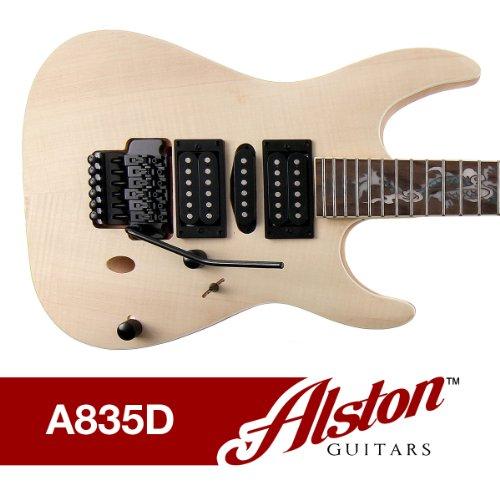 Alston Guitars - Diy Electric Guitar Kit | Bolt On | Solid Mahogany Body & Neck Flamed Maple Veneer
