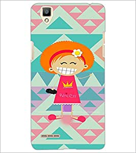 PrintDhaba Cartoon D-3607 Back Case Cover for OPPO F1 (Multi-Coloured)