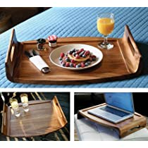 Lipper International Oversized Reversible Wood Serving Tray
