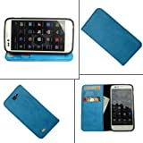 i KitPit   PU Leather Wallet Flip Case Cover For Karbonn A50 (SKY BLUE) available at Amazon for Rs.479