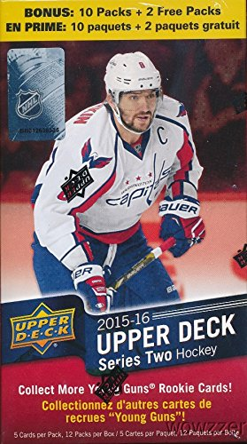20152016-Upper-Deck-Series-2-NHL-Hockey-HUGE-Factory-Sealed-Retail-Box-with-12-Packs-Includes-TWO2-Young-Guns-Rookies-Look-for-Conner-McDavid-Canvas-Rookie-Selling-for-over-200-HOT