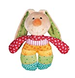 Sigikid 40578 Rassel Rainbow Rabbit, 15 cm