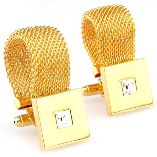Beour White-gold-plated-silver Square Gold Copper Fascinating Cufflinks
