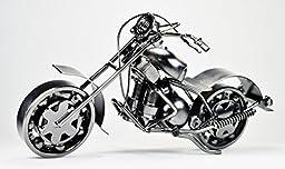 Metal sculpture -Retro Classic Handmade Iron Motorcycle unique metal art decor - home décor GTO1A