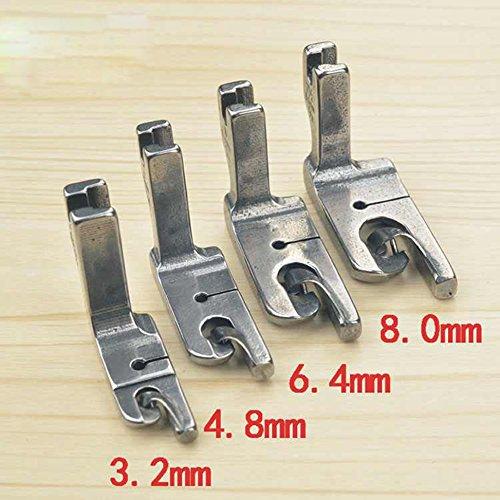 Industrie Steppstich Nähmaschine Nähfuß, 6.4mm