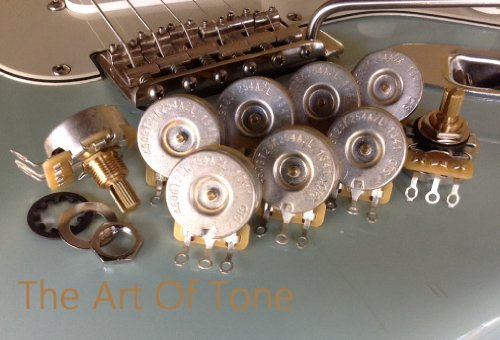 Bulk Lot Of 9 (9X) Cts 250K Short Split Shaft Audio Taper Potentiometers / Pots