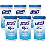 Purell 9120-06-CMR Hand Sanitizing Wipes, Clean Refreshing Scent, 40 Count Canister (Pack of 6)