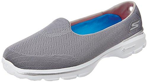 Skechers Performance Women's Go Walk 3 Insight Slip-On Walking Shoe, Gray, 6.5 M US