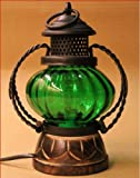 Pindia Decorative Electric Lamp Holder (Green)
