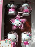 Hello Kitty 5pk 1-in Holiday Ornament