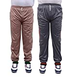 NATIONWIDE GARMENTS SOILD BLUE AND BROWN PACK OF 2 TRACK PANTS (SIZE-XXL)
