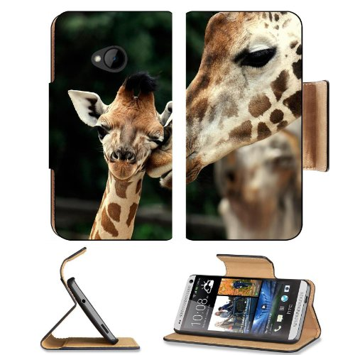 Giraffe Wildlife Animal Baby Mammal Nature African Htc One M7 Flip Cover Case With Card Holder Customized Made To Order Support Ready Premium Deluxe Pu Leather 5 11/16 Inch (145Mm) X 2 15/16 Inch (75Mm) X 9/16 Inch (14Mm) Liil Htc One Professional Cases A front-797484