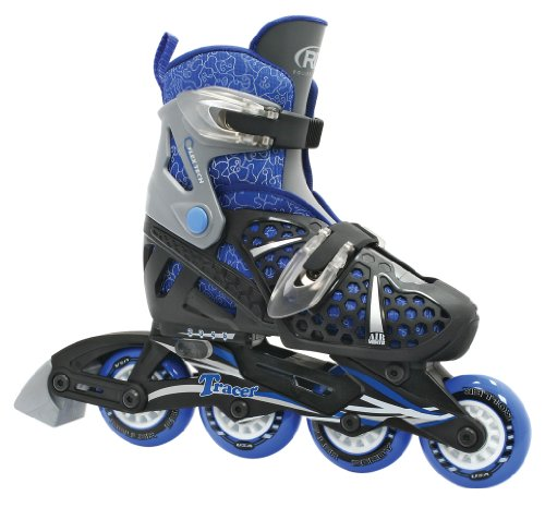 Roller Derby Boy's Tracer Adjustable Inline Skate, Medium