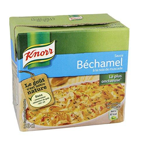 Knorr - Sauce béchamel, prête à l'emploi - La brique de 50cl - (pour la quantité plus que 1 nous vous remboursons le port supplémentaire)