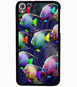 ColourCraft Beautiful Fishes Design Back Case Cover for HTC DESIRE 820