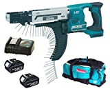 Makita 18V LXT BFR750 BFR750Z BFR750Rfe Screw Gun, 2 X BL1830 Batteries, DC18RC Charger And DK18027 Bag