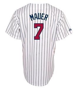 MLB Joe Mauer Minnesota Twins Youth Replica Home Jersey by Majestic