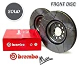 Front Brembo MAX Brake Discs - NISSAN Micra 1.0i 16V - 1.3i 16V (K11)
