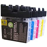4 CiberDirect High Capacity Compatible Ink Cartridges for use with Brother DCP-195C Printers.