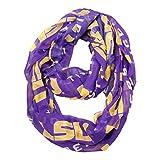 NCAA LSU Tigers Sheer Infinity Scarf, One Size, Purple Reviews