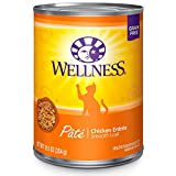 Wellness Natural Grain Free Wet Canned Cat Food, Chicken Pate, 12.5-Ounce Can (Pack Of 12)