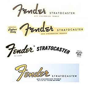 Amazon.com: Fender Stratocaster Waterslide Decal Set Strat