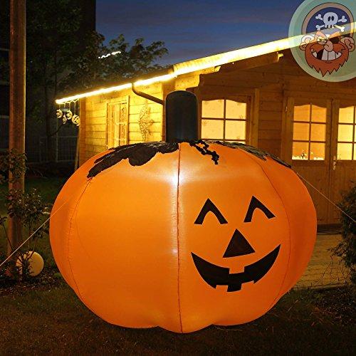 Zucca di halloween gonfiabile gigante 1 5 m di altezza con for Gonfiabili halloween