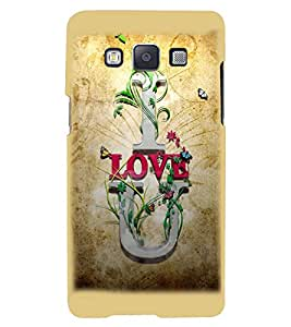 Printvisa Premium Back Cover Brown Background Love Quote Design For Samsung Galaxy A7::Samsung Galaxy A7 A700F