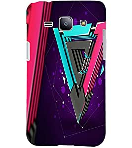 PrintDhaba LOCK PATTERN D-6153 Back Case Cover for SAMSUNG GALAXY J1 (Multi-Coloured)
