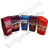 The Best Christmas Chocolate Carton of Treats - Nestle Quality Street, Cadbury Eclairs, Roses, Heros & Mars Celebrations
