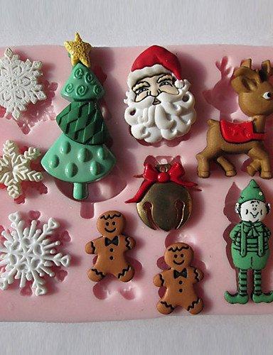 LIN Chocolat de Noël flocon de neige silicone / Fondant / Sucre Mold