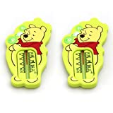 2 Pack Winnie The Pooh Bath Thermometer Yellow Accurate Water Temperature Tester