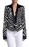 Just Cavalli Womens Animal Print One Button Blazer US 4 IT 40