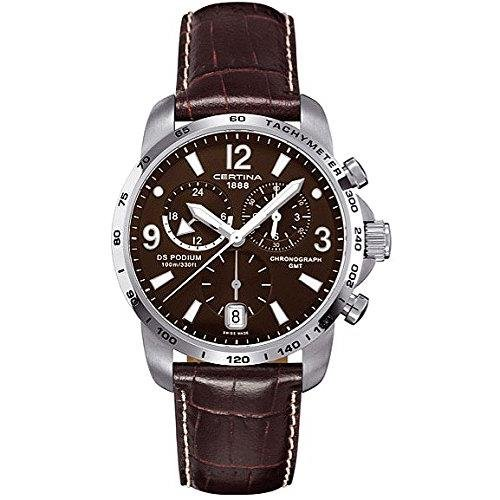 Certina Men's Quartz Watch with Chronograph XL Quartz Leather c001.639.16.297.00