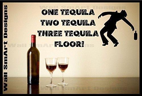 Wandaufkleber zitat lustig tequila aufkleber wandgem lde for Alkohol dekoration