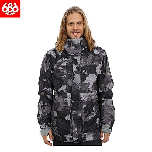 【686】2014-2015/Authentic Smarty Form Jacket メンズスノージャケット スノーボードウェア/l4w111c GunmetalCanvasCamo M