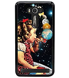Aart Designer Luxurious Back Covers for Asus Zenfone 2 Laser ZE500KL + 3D F2 Screen Magnifier + 3D Video Screen Amplifier Eyes Protection Enlarged Expander by Aart Store.