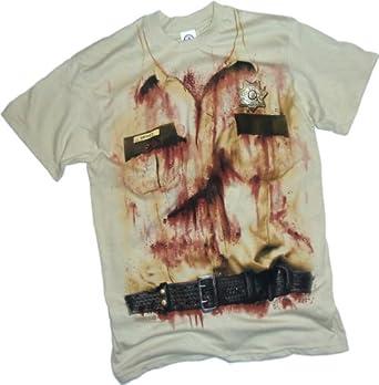 Rick Grimes Uniform Costume -- The Walking Dead T-Shirt, XX-Large