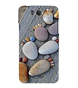 PrintVisa Cute Beach Stone Art Design 3D Hard Polycarbonate Designer Back Case Cover for Infocus M530