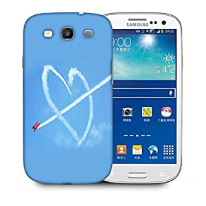 Snoogg Airplane Fly Heart Printed Protective Phone Back Case Cover For Samsung S3 / S III