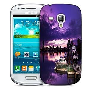 Snoogg Nite Sea View Printed Protective Phone Back Case Cover For Samsung S3 Mini / S III Mini