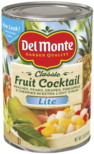 Del Monte Lite Fruit Cocktail In Extra Light Syrup, 15-Ounce (Pack Of 8)