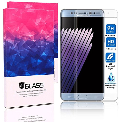 Galaxy Note 7 Screen Protector,JDBRUIAN[Full Coverage Curved]Tempered Glass Screen Protector for Samsung Galaxy Note 7 with [9H Hardness][Anti-Scratch][Deluxe Wooden Gift Box][Clear]