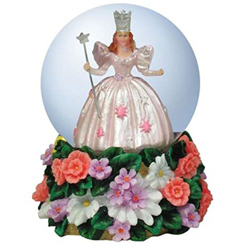 Wizard of Oz Glinda in Water Globe with Flower Shaped Stand