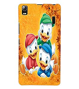 ColourCraft Lovely Cartoon Characters Design Back Case Cover for LENOVO A7000 TURBO